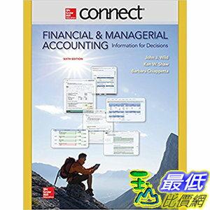 106美國直購  2017美國暢銷軟體 Connect 2 Semester Access Card for Financial and Managerial
