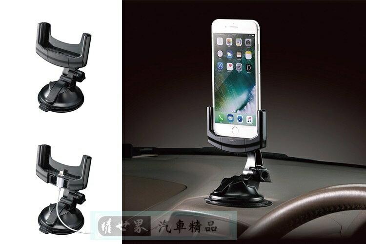 權世界@汽車用品 日本CARMATE iPhone7 Plus專用 可360度旋轉 吸盤式智慧型手機架 車架 SA14