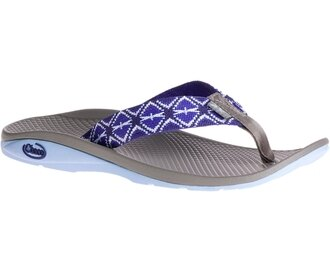 ├登山樂┤美國Chaco 女戶外休閒涼鞋/夾腳拖鞋-沙灘款 藍色漂浮# CH-ETW01HD51