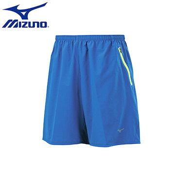 J2TB655216(寶藍)拉鍊口袋單層輕量RUNNING男路跑短褲 【美津濃MIZUNO】