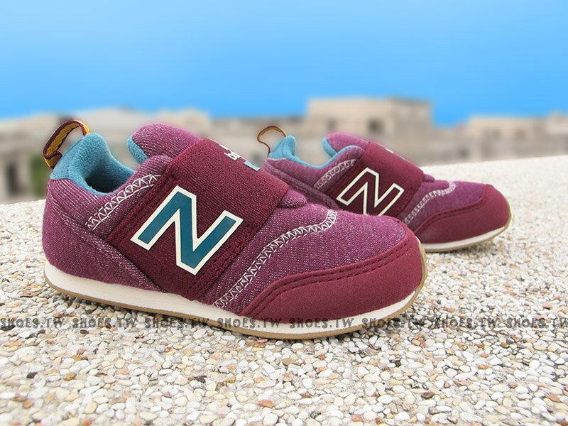 《下殺6折》Shoestw【KS620BUI】NEW BALANCE 620 小童鞋 運動鞋 葡萄紫藍 免綁帶 繃帶鞋