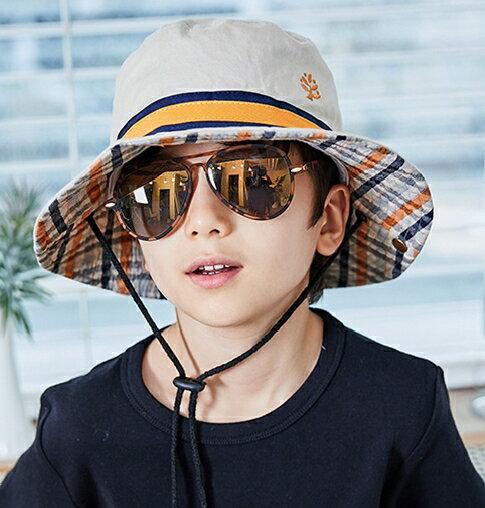 Kocotree◆ 時尚潮流酷炫雷朋輕版升級版兒童炫彩太陽眼鏡-金色