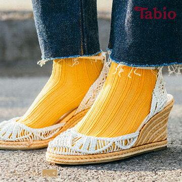 【靴下屋Tabio】羅紋編織條紋棉短襪網襪日本職人手做