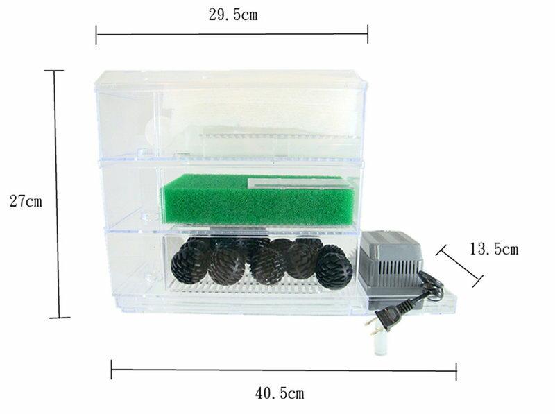 ^~第一佳 水族寵物^~ 可調式多層式生化過濾盒 過濾槽套裝組 ^~1尺半~2尺用^~ ~