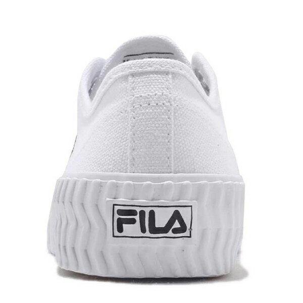 Shoestw【4C320T110】FILA BISCUIT 帆布鞋 餅乾鞋 休閒鞋 白色 男女尺寸都有 3