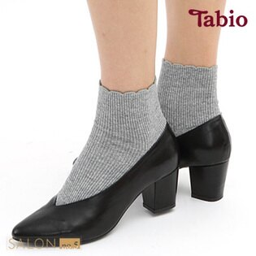 【靴下屋Tabio】羊絨混紡花邊短襪日本職人手做