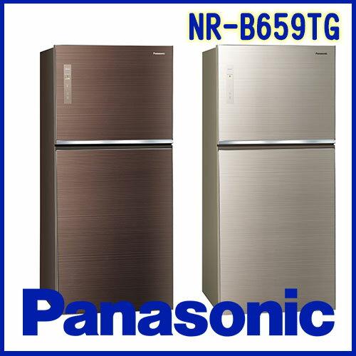 奇博網:Panasonic國際牌650LECONAVI無邊框玻璃系列NR-B659TGN翡翠金T翡翠棕