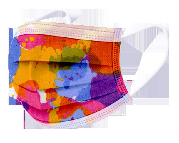 文賀生技【台灣MIT雙鋼印】成人醫用口罩-時尚系列-繽紛年華 20入(獨立包裝)/盒