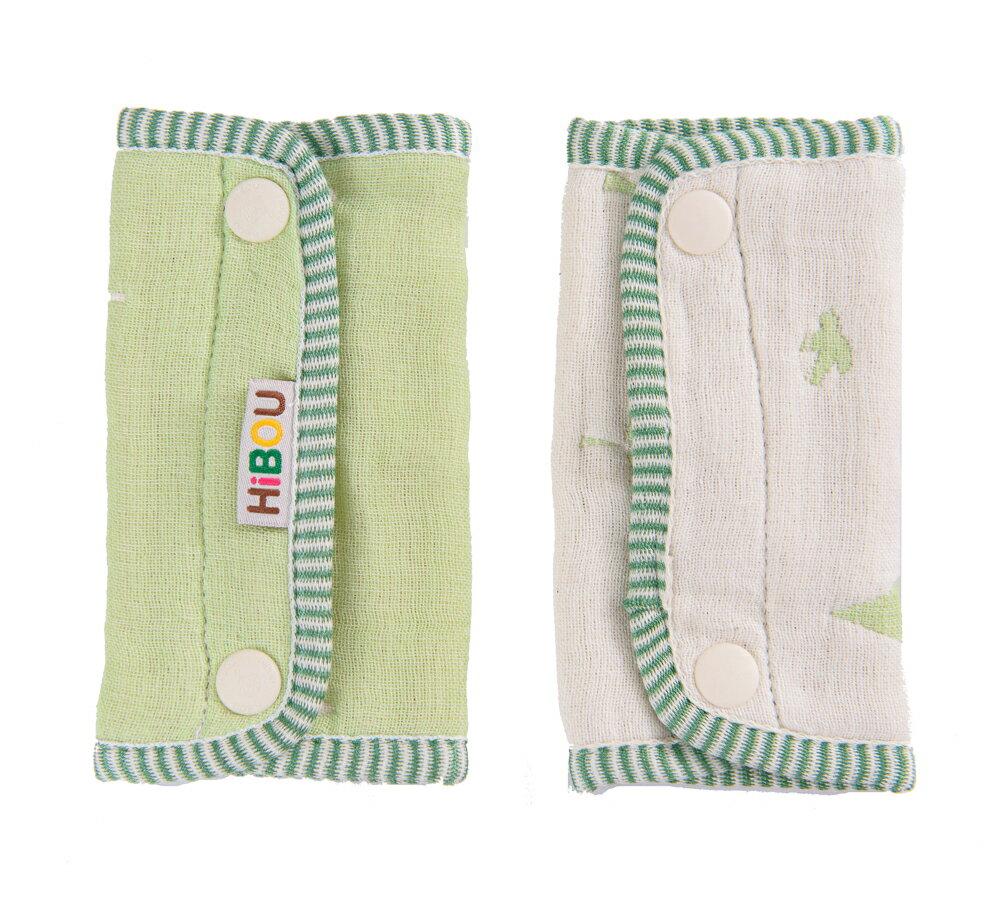 HiBOU-六重紗-背帶防污口水巾(木與鳥)