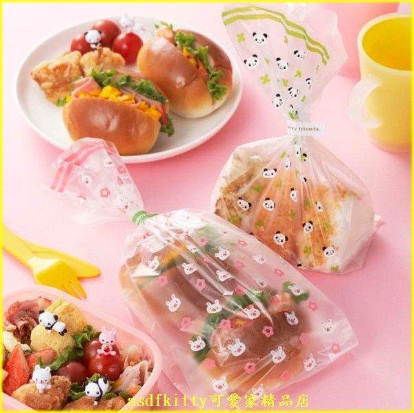 asdfkitty可愛家☆日本MSA 熊貓 粉小兔塑膠袋/點心袋/包裝袋-裝麵包.餅乾.糖果-日本正版