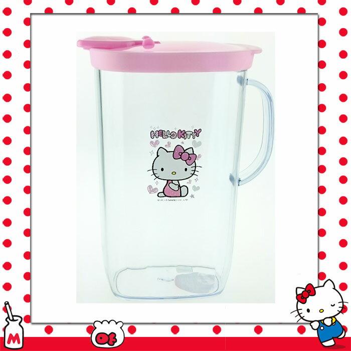 大田倉 日本進口正版 三麗鷗HELLO KITTY凱蒂貓 塑膠透明 冷水筒 冷水壺 約1.5L 037710