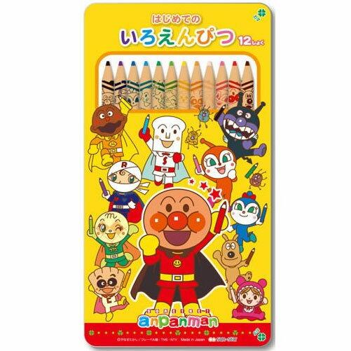 NOBA 不只是禮品:麵包超人12色色鉛筆附鐵筆盒sun-star日本製造