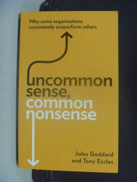 【書寶二手書T7/財經企管_GRK】Uncommon Sense, Common