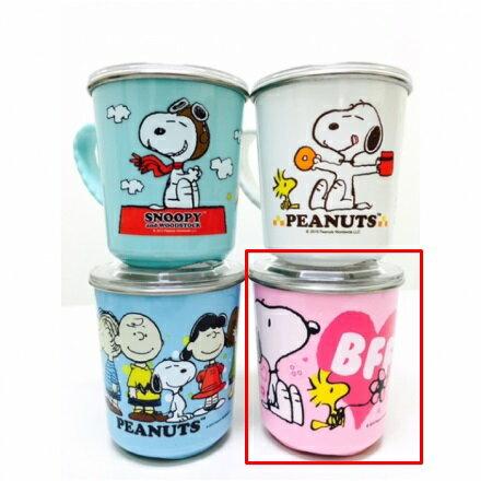 【真愛日本】16030900015附蓋不銹鋼杯-愛心 史努比 Snoopy 保溫杯 不銹鋼杯 杯子 水杯 居家