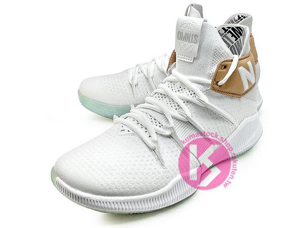 2019 最新 NBA 總冠軍 Kawhi Leonard 強力代言 NEW BALANCE WMNS OMN1S 女鞋 女版 白金 全腳掌的 FUELCELL 緩震科技 MVP 籃球鞋 紐巴倫 小可愛 (WBOMN1TS) 1219NBA 1