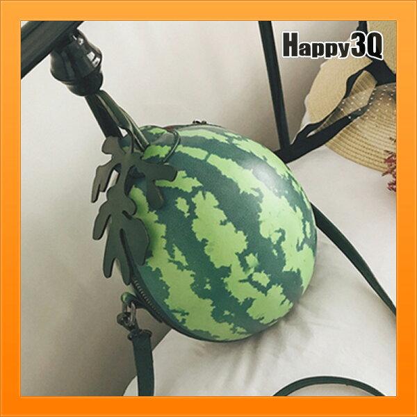 搞笑西瓜包圓型包手提包圓包斜背包交換禮物搞笑小玉西瓜隨身包-西瓜【AAA4419】