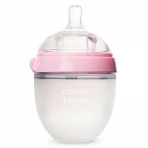 韓國【Comotomo】矽膠奶瓶 150ML-1入裝(粉) - 限時優惠好康折扣