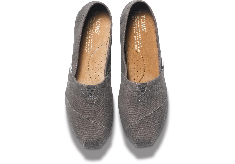 【TOMS】灰色素面基本款休閒鞋   Ash Canvas Women's Classics 2
