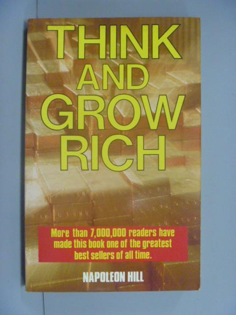 ~書寶 書T2/勵志_NIX~Think and Grow Rich_Napoleon H