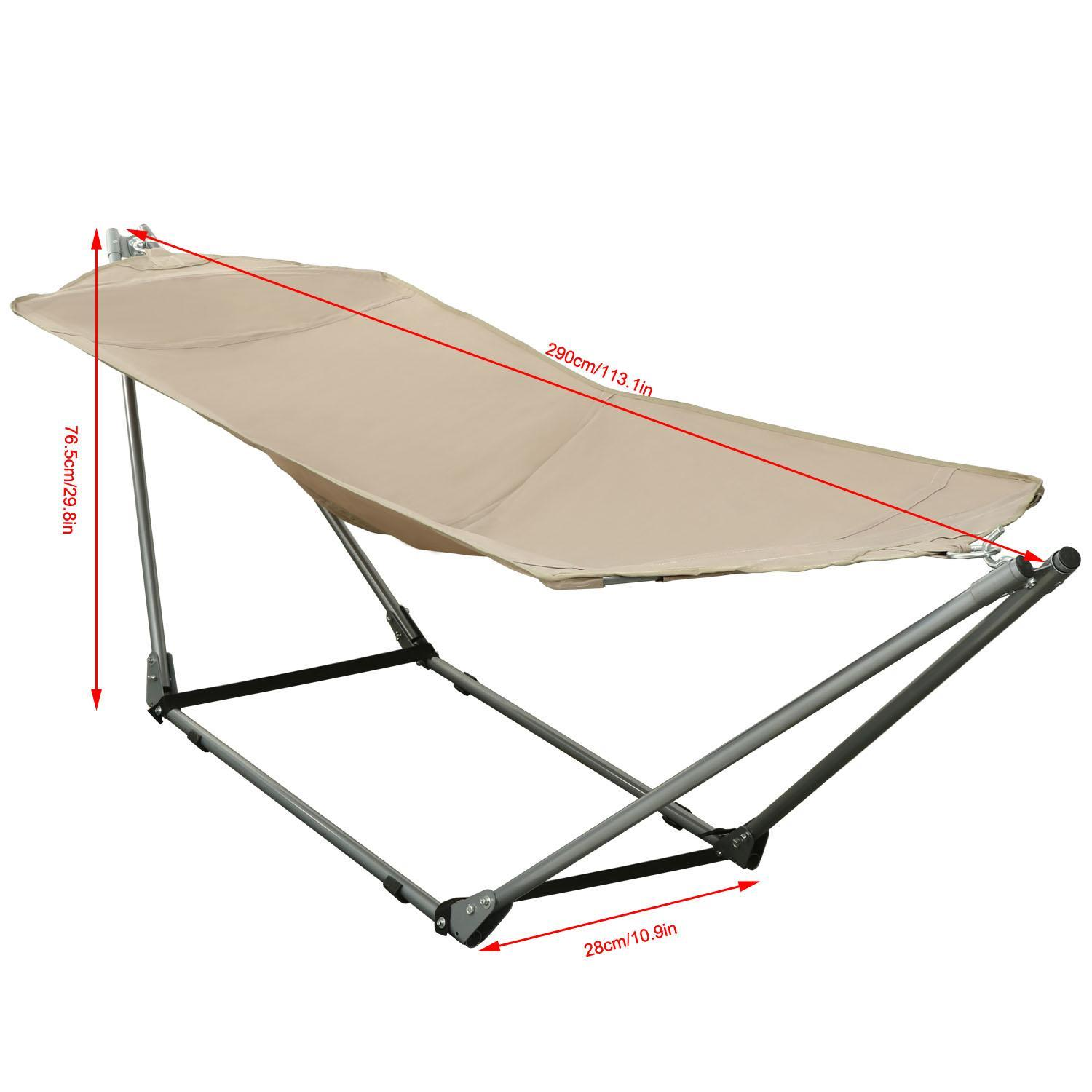 Foldable Adjustable Hammock Garden Beach With Carrying Bag 2