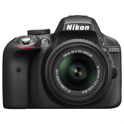 "Nikon D3300 24.2 Megapixel Digital SLR Camera Body Only - 18 mm - 55 mm - Black - 3"" LCD - 16:9 - 3.1x Optical Zoom - Optical (IS) - 6000 x 4000 Image - 1920 x 1080 Video - HDMI - HD Movie Mode 0"