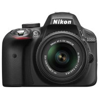 Nikon D3300 24.2 Megapixel Digital SLR Camera Body Only - 18 mm - 55 mm - Black - 3