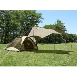 【Coleman 美國】綠橄欖版4-6人透氣圓頂露營帳IV套裝組+天幕 (CM-33799M000)