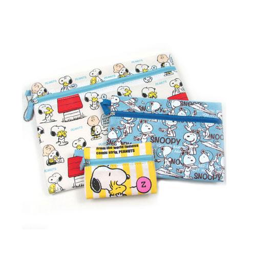 sightme看過來購物城:A套組【日本進口正版】史努比Snoopy收納包收納袋三件組PEANUTS-870557