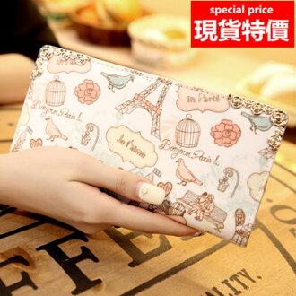(現貨 附發票)長夾 彩繪圖案大容量拉鍊皮夾 手機錢包 共9款(A828系列)/寶來小舖(現貨銷售)