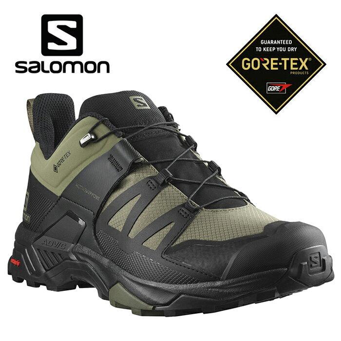 【毒】SALOMON 男款 X ULTRA 4 GTX 低筒登山鞋 輕量防水 健行專用 L41386500