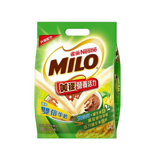 雀巢美祿-雙倍牛奶三合一袋裝30g*16入【愛買】