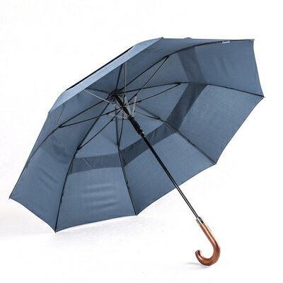 遮陽傘 雨傘男長柄日本雙層超大號復古簡約商務雙人木柄抗暴雨防風直杆傘『CM37339』