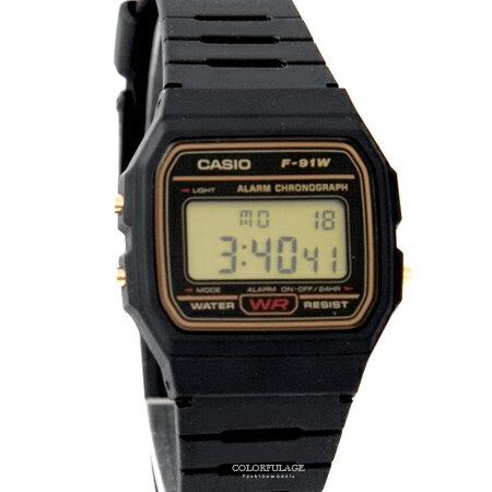 CASIO卡西歐 復古輕薄方型黑金設計多功能電子錶 休閒運動款式 柒彩年代【NE1870】原廠公司貨