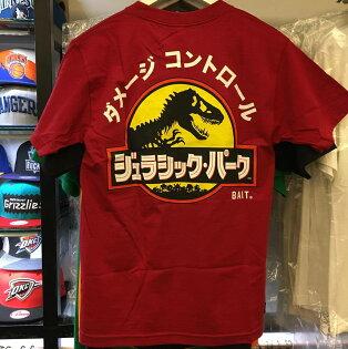 BEETLE PLUS:BEETLEBAITXJURASSICPARKTEE聯名侏儸紀公園恐龍日文紅红黃SL