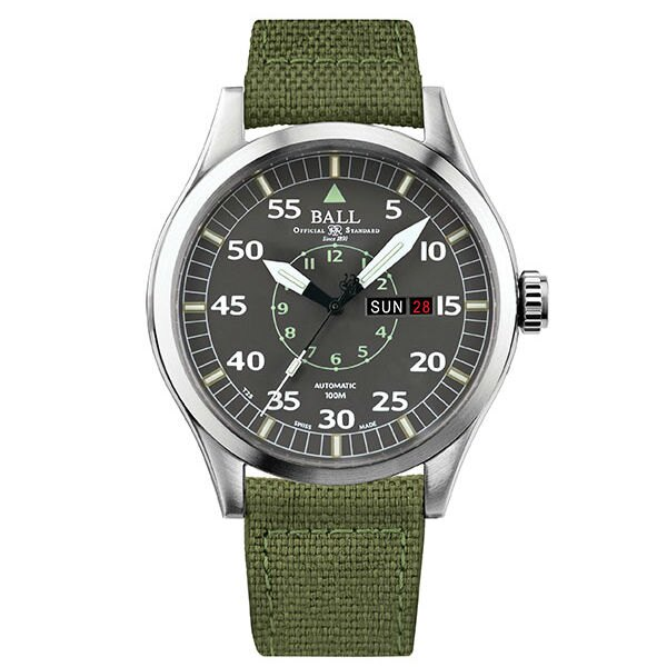 BALL 波爾錶NM1080C-N5J-GY 軍帆布機械腕錶/灰面46mm