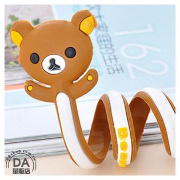 DA量販店:《DA量販店》動物造型繞線器收線器捲線器集線器方便收納可愛棕色熊(79-0298)
