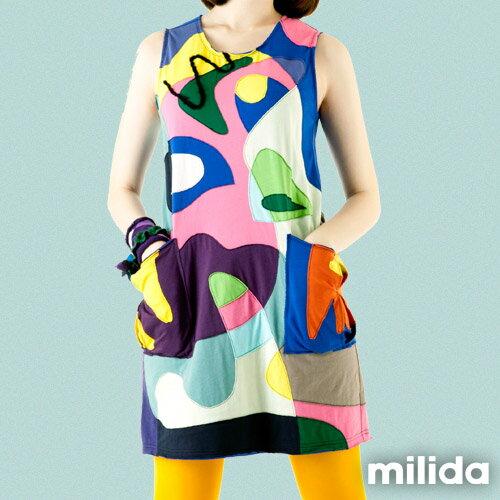 【Milida,全店七折免運】無袖大口袋可愛洋裝 4