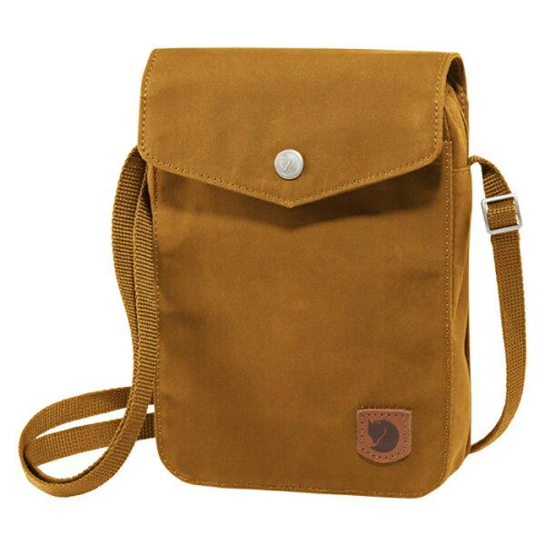 【Fjallraven小狐狸瑞典】GreenlandPocket多功能的隨身小肩包旅行隨身包護照包側肩包橡子色(23156)
