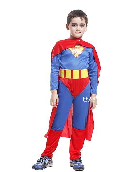 東區派對~ 萬聖節服飾 萬聖節裝扮 聖誕舞會 變裝派對 兒童變裝服~無敵超人裝