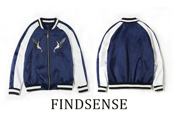 FINDSENSE品牌燕子夾克外套防風潮流棒球外套精品規格訂做