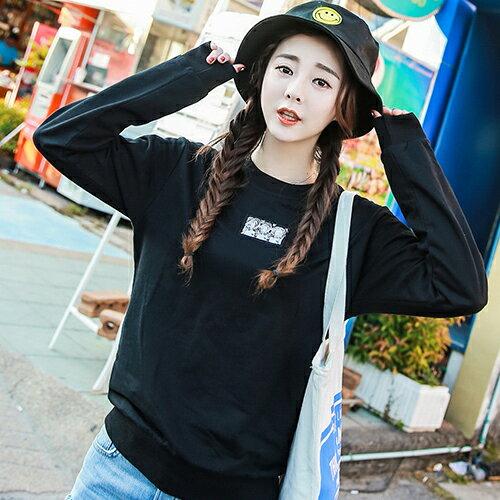 ◆快速出貨◆刷毛T恤 圓領刷毛 情侶T恤 暖暖刷毛 MIT台灣製.中間小圖【YS0396】可單買.艾咪E舖 5