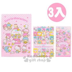 〔小禮堂〕Sanrio大集合 日製L型文件夾《3入.粉.愛心.糖果》繽紛80年代系列