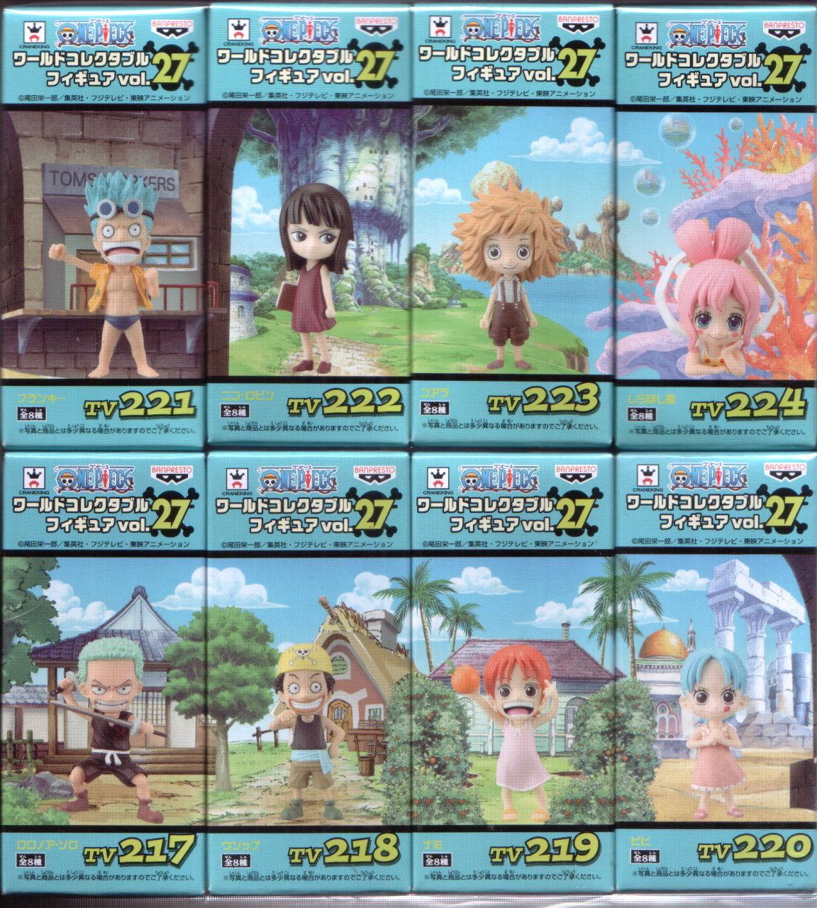日版金證 WCF 小時候回憶篇 大全8隻 海賊王 航海王 VOL.27 One Piece 公仔 玩具