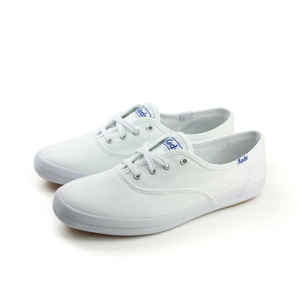 Keds CHAMPION WHITE CANVAS 帆布鞋 休閒鞋 經典款 白 女鞋 9171W110002 no002