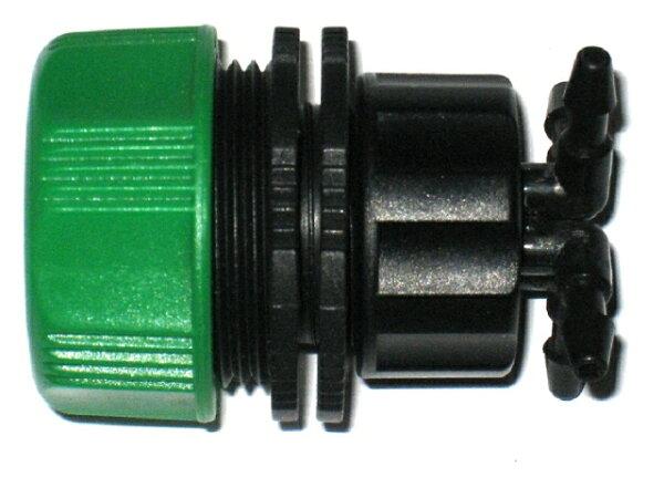六分轉兩分四孔轉接頭(左邊接6分水管,右邊接兩分水管)