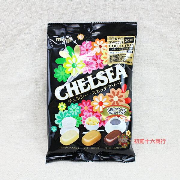 【0216零食會社】日本明治_三味綜合巧喜糖袋裝93g