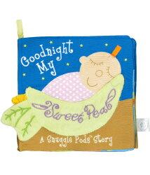 ★衛立兒生活館★美國Manhattan Toy軟布書-晚安豌豆#7236