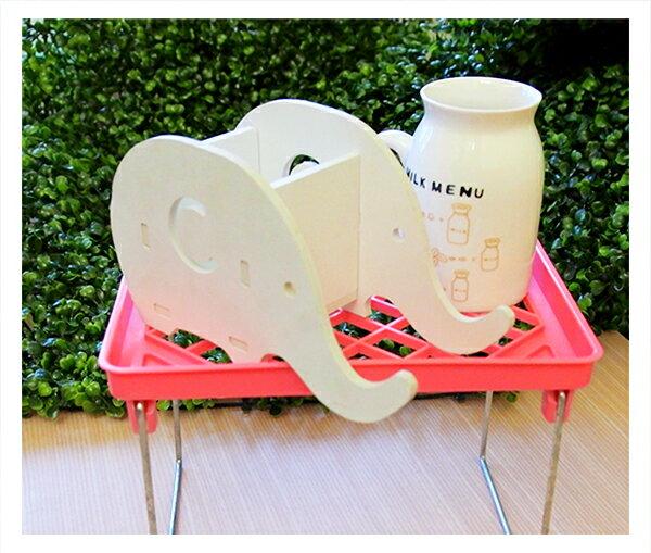 【aifelife】瀝水置物盤(小)多用途廚房辦公桌面化妝台浴室廁所置物架多層疊高摺疊置物架雜物整理收納架