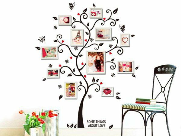 Loxin【YV3818】時尚組合壁貼 牆貼 壁紙壁貼紙 創意璧貼 幸福樹