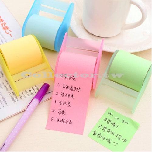 【L15031802】膠帶捲紙式便利貼 可撕便籤紙 附膠帶座 親親貼 創意紙膠帶